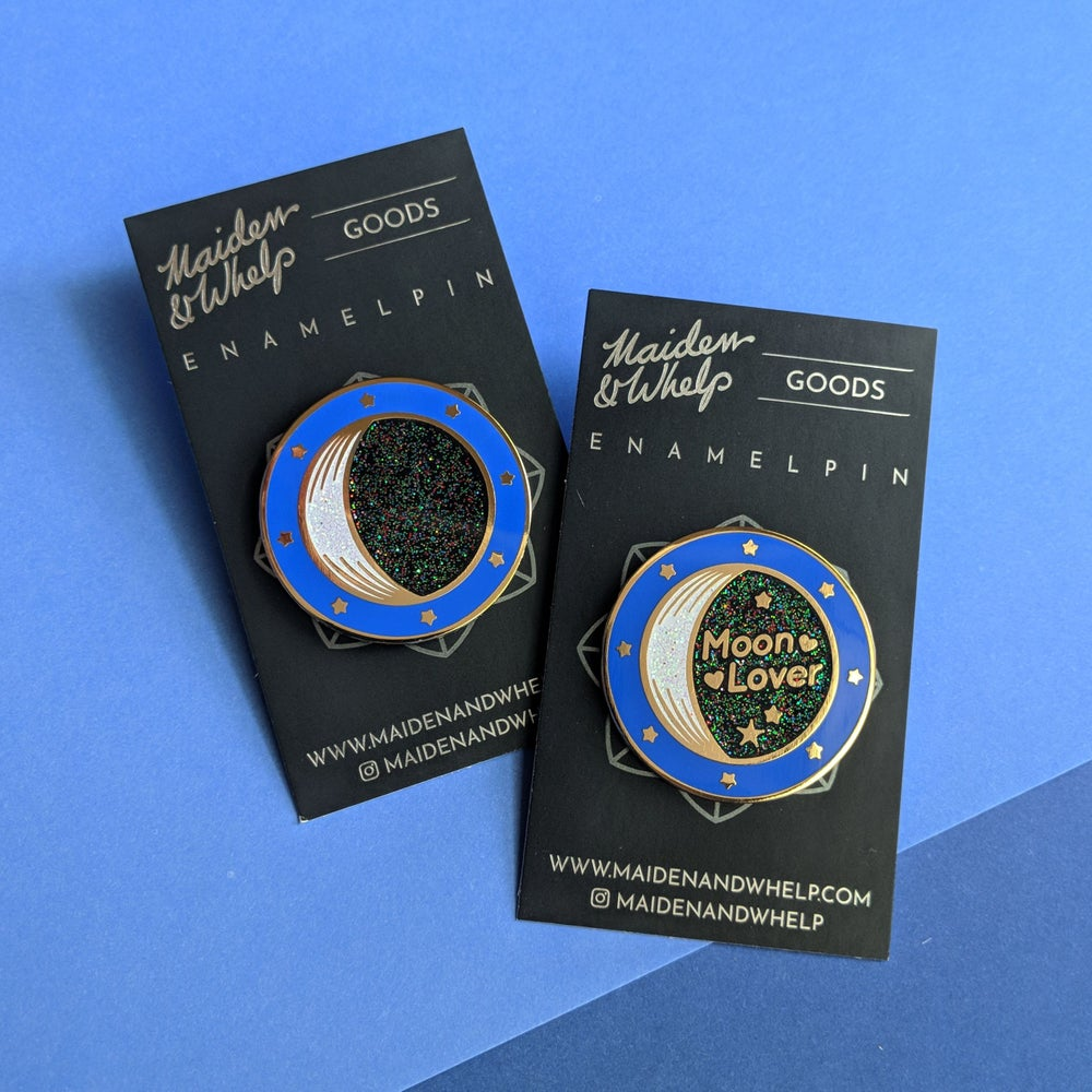 Image of Golden Crescent Moon Enamel Pin - Limited Edition