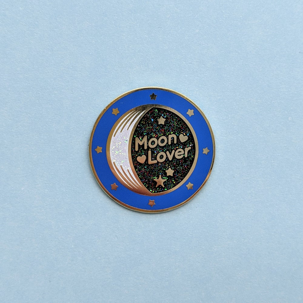 Image of Moon Lover Enamel Pin - Limited Edition
