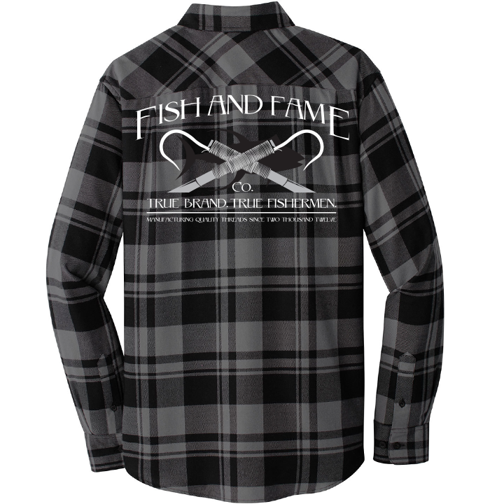 Image of Classic Flannel (charcoal/black)