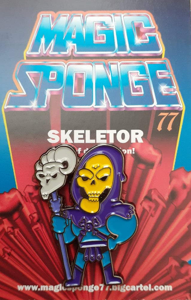 Image of Skeletor Pin.