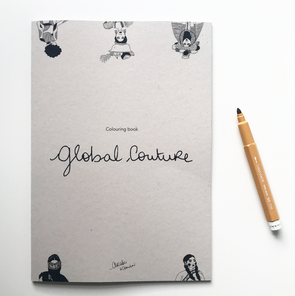 Global Couture Colouring Book