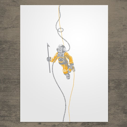 Image of Deep Sea Diver Poster