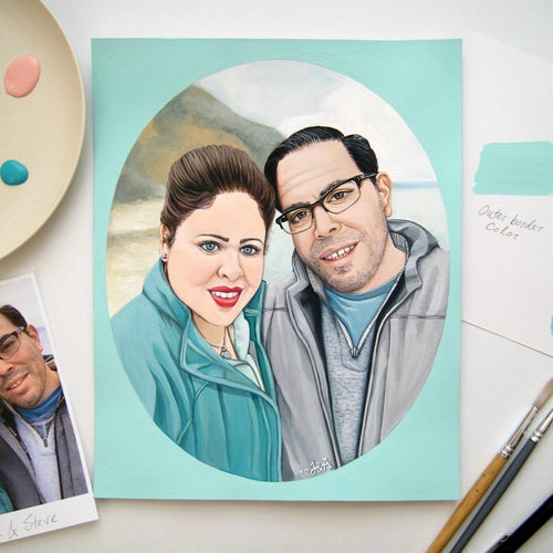 Image of Custom Portrait for Two (people or pets) price: $175.