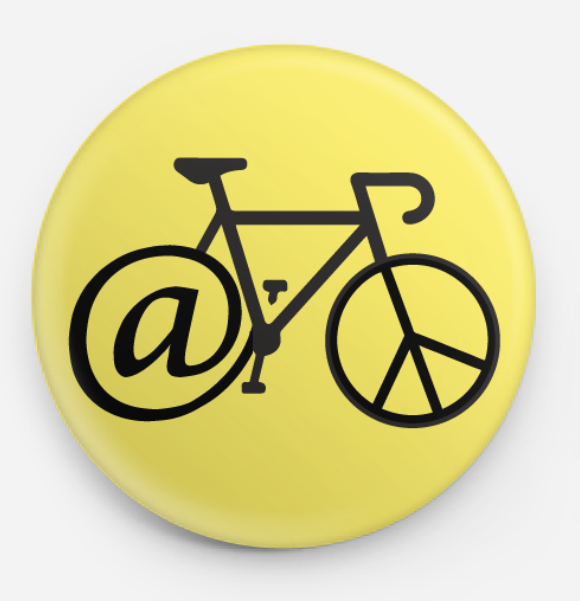 At Peace Bicycle Button