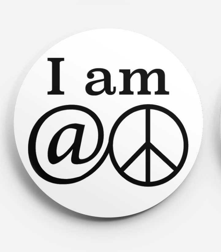 """I Am At Peace"" button"