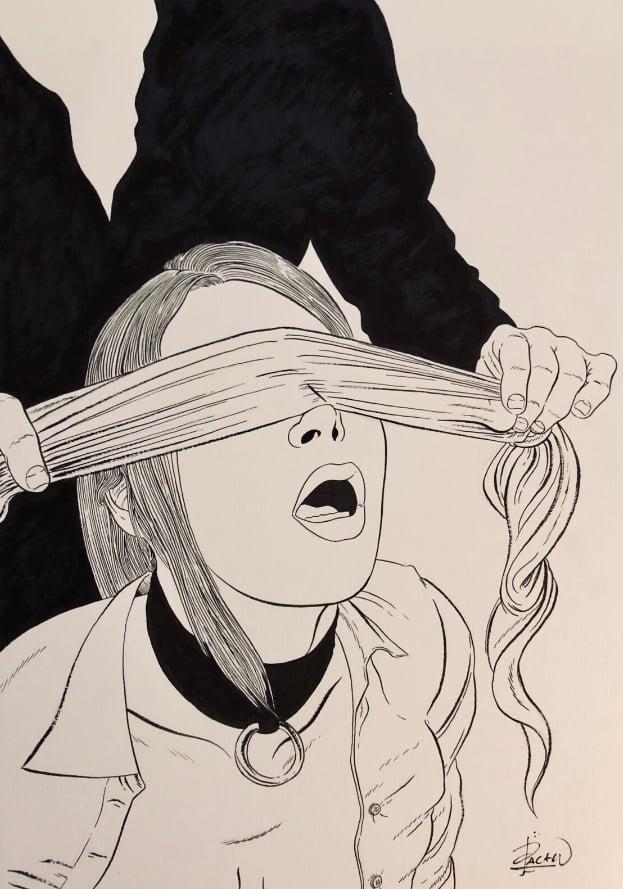 Image of BLINDFOLDED (original  art)