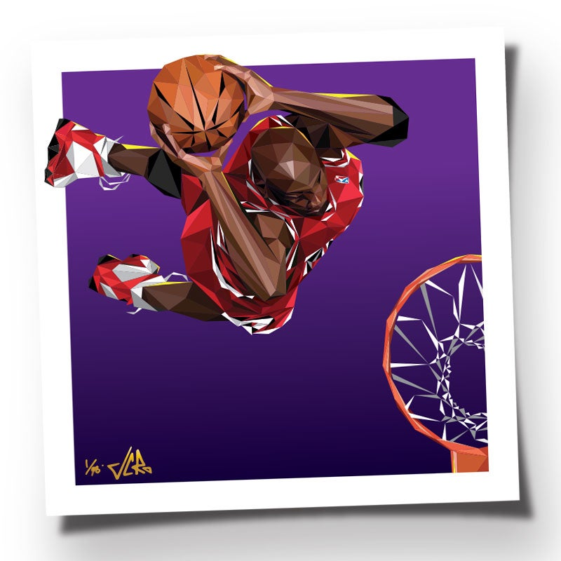"Image of JCRo - ""HANGTIME"" - Purple Studio Floor Edition 20 inch print"