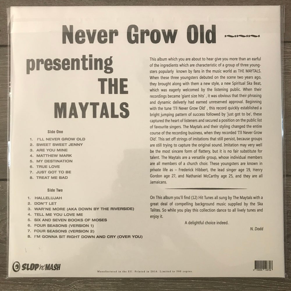 Image of The Maytals - Never Grow Old Vinyl LP