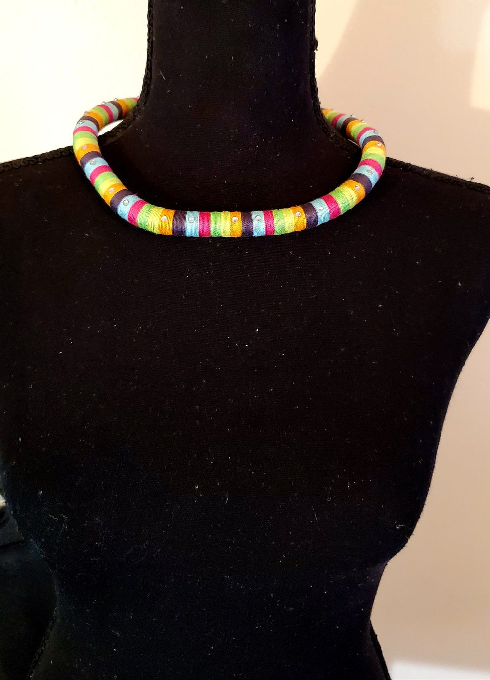 """Image of Blinged Rope Necklace- 18"""" Single Color"""