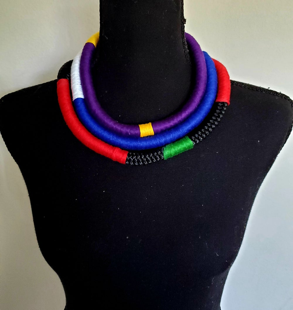 "Image of Solo Rope Necklace - 18"" Multi-colored"