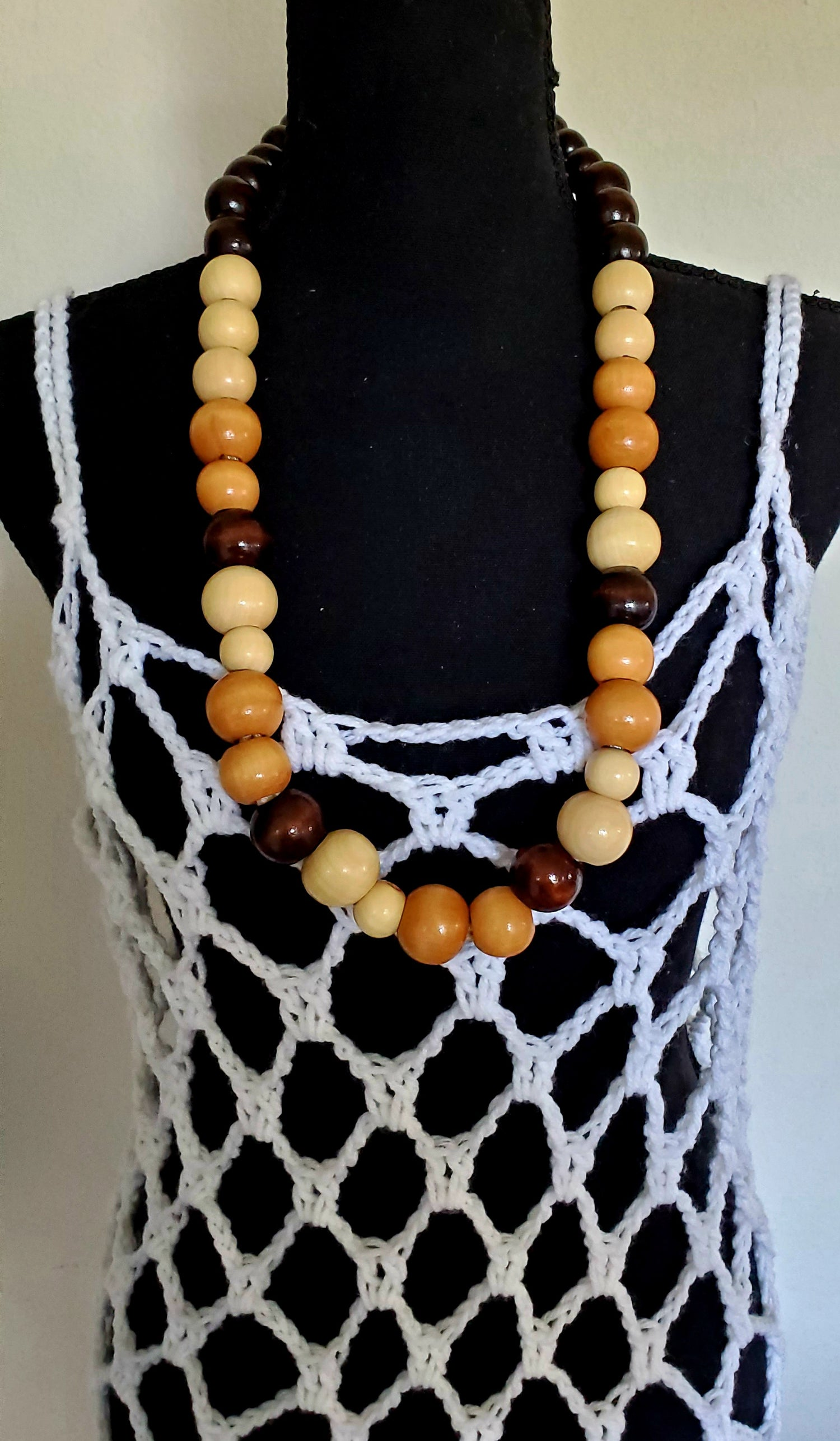 """Image of Matinee Beaded Necklace  - 24"""" Multi-colored (Large)"""