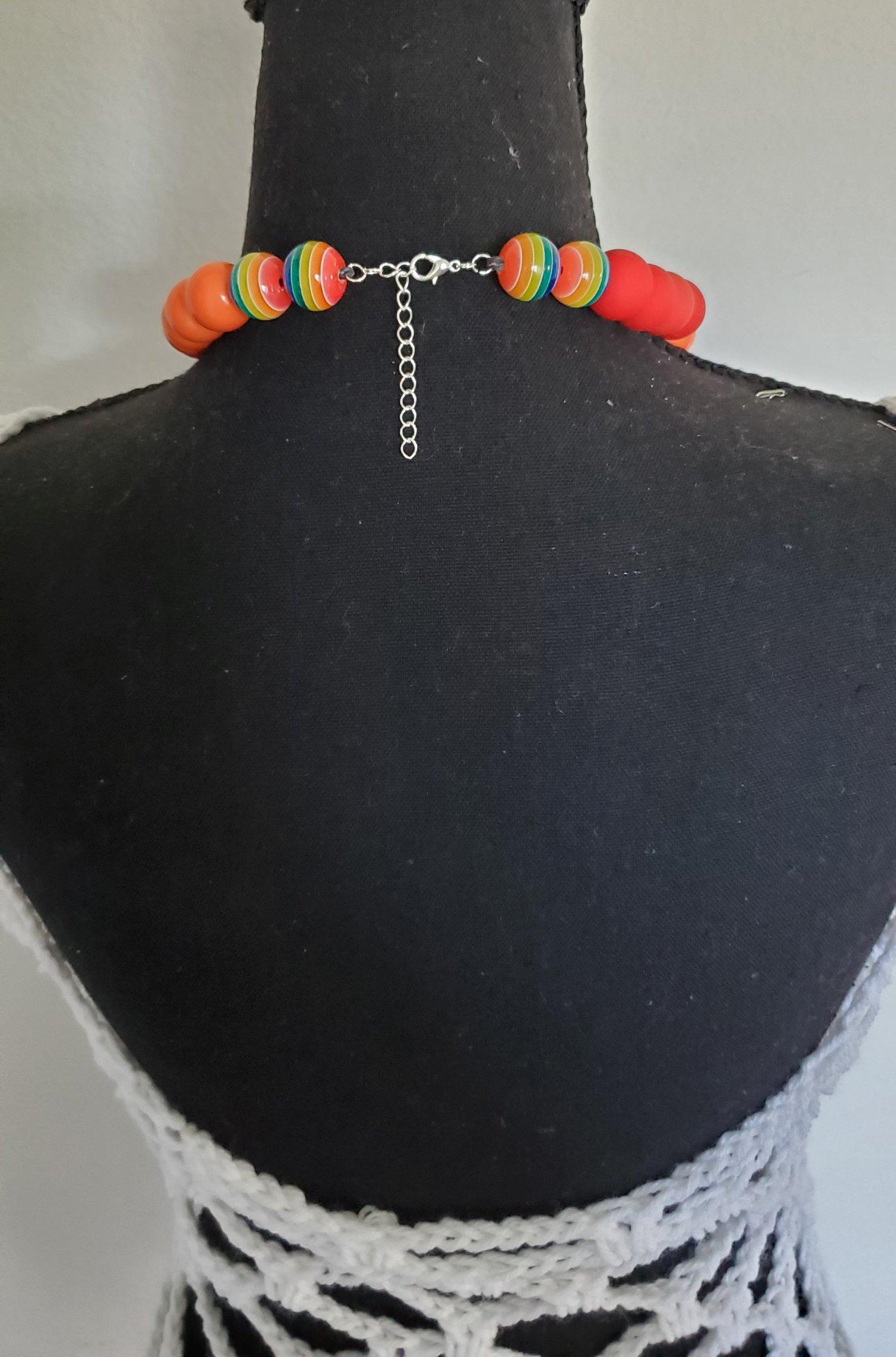 "Image of Princess Beaded Necklace  -18"" Multi-colored  (Medium)"