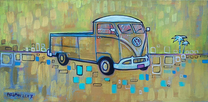 Image of Gold VW Truck