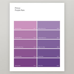 "Image of Prince ""Purple Rain"" Paint Swatch Print"