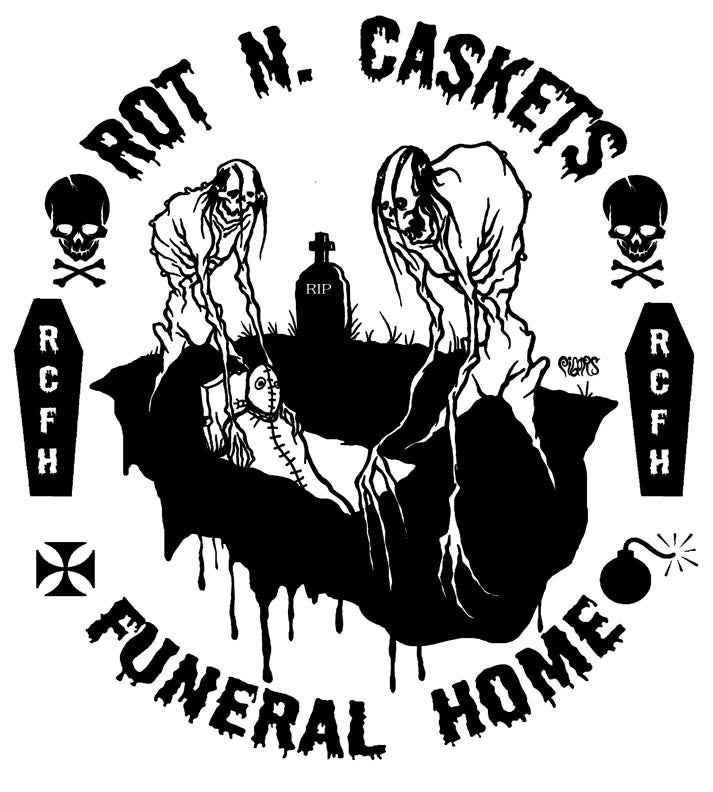 Image of ROT N CASKETS BASEBALL TEES - ALMOST GONE!