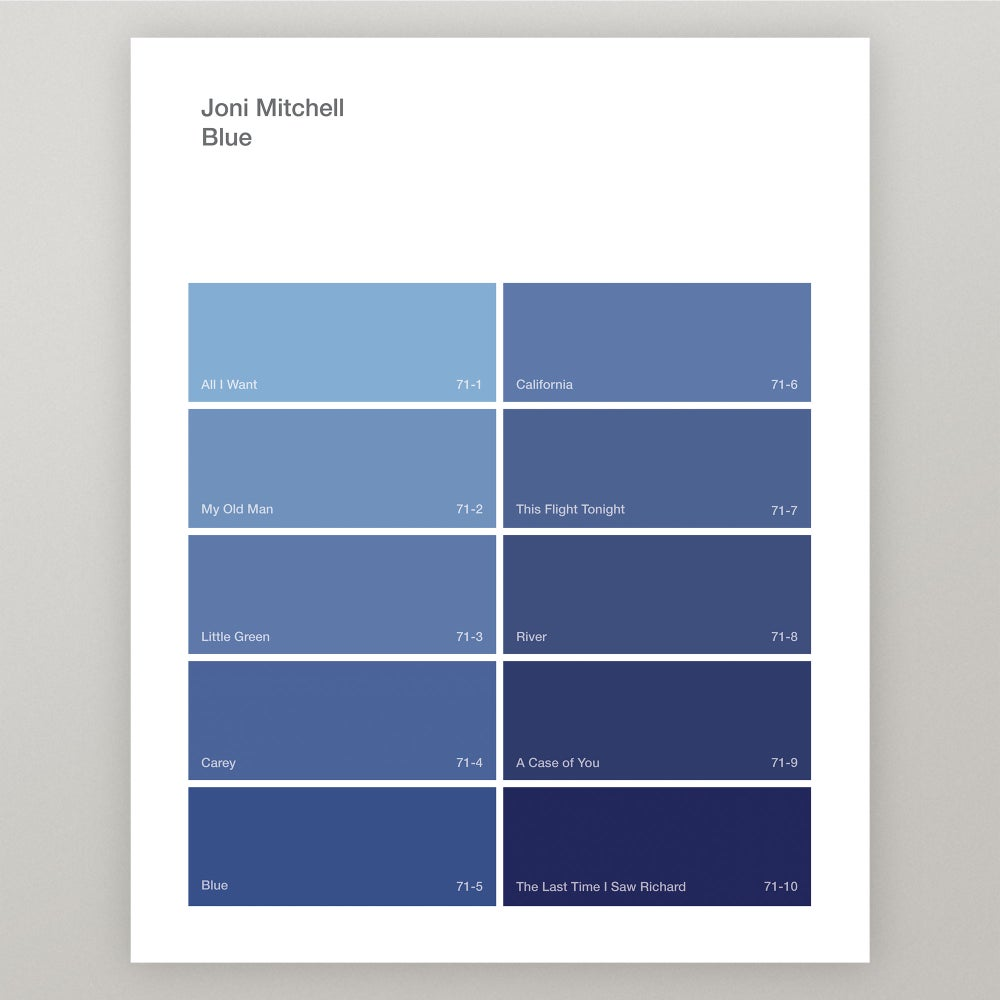 "Image of Joni Mitchell ""Blue"" Paint Swatch Print"