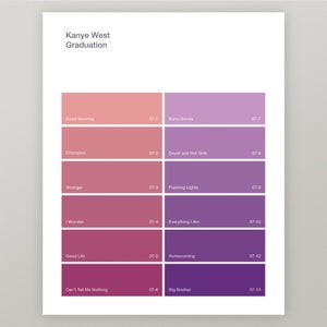 "Image of Kanye West ""Graduation"" Paint Swatch Print"
