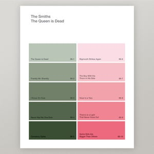 "Image of The Smith ""The Queen is Dead"" Paint Swatch Print"