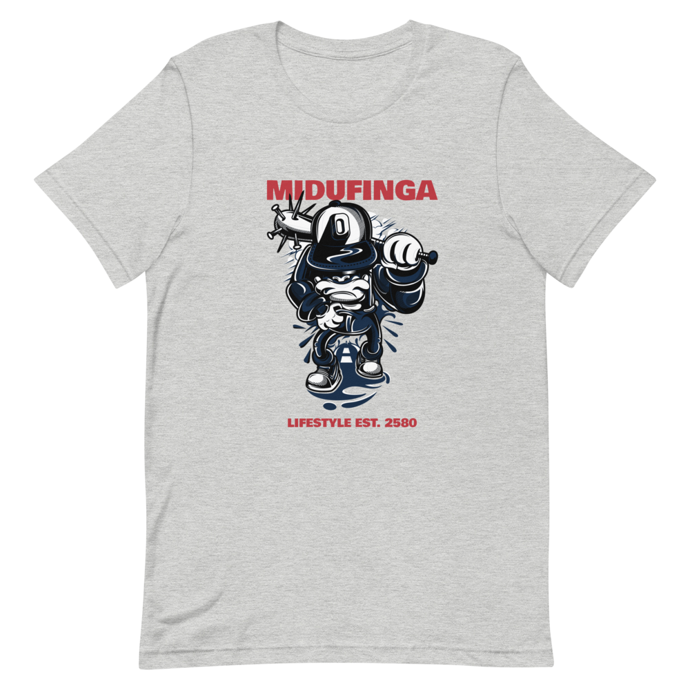 Image of Midufinga Lifestyle Street Red Sox Red T-Shirt