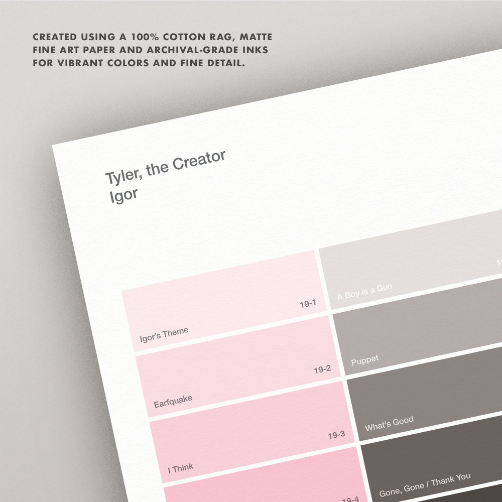 "Image of Tyler, the Creator ""Igor"" Paint Swatch Print"