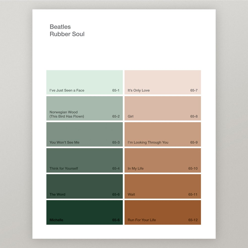 "Image of Beatles ""Rubber Soul"" Paint Swatch Print"