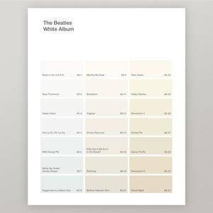 "Image of Beatles ""White Album"" Paint Swatch Print"
