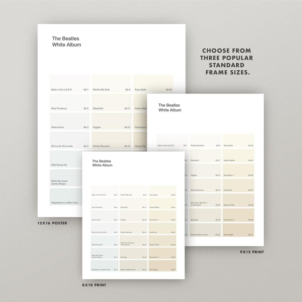 "Image of Beatles ""White Album"" Paint Swatch Print"
