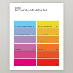 "Image of Beatles ""Sgt. Pepper's"" Paint Swatch Print"