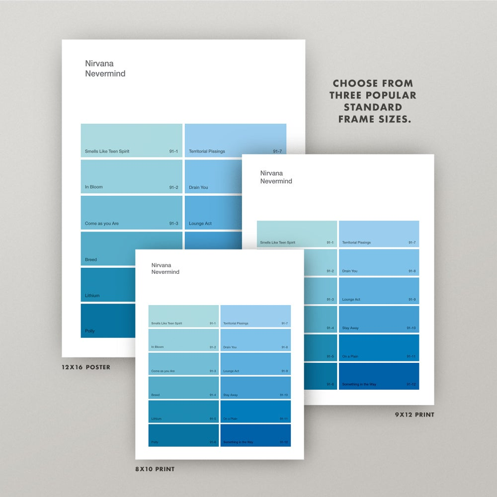 """Image of Nirvana """"Nevermind"""" Paint Swatch Print"""