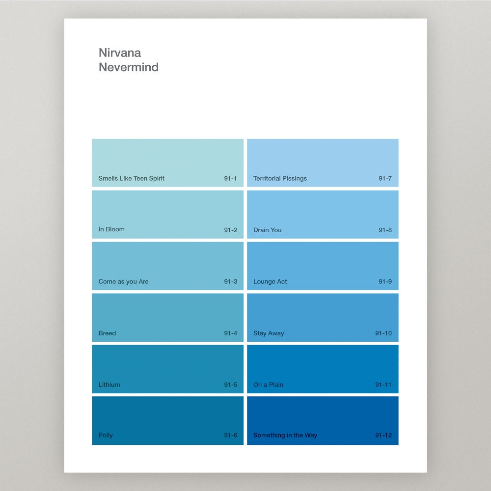 "Image of Nirvana ""Nevermind"" Paint Swatch Print"