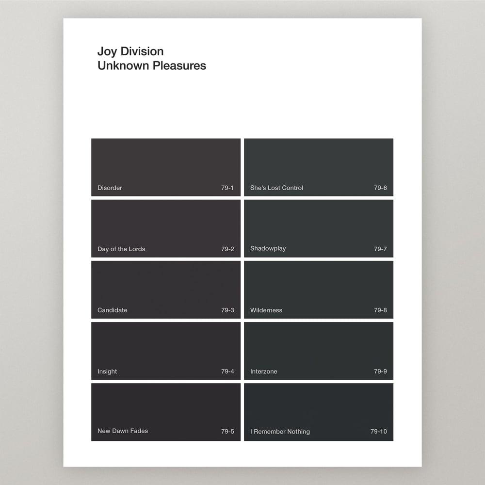 "Image of Joy Division ""Unknown Pleasures"" Paint Swatch Print"