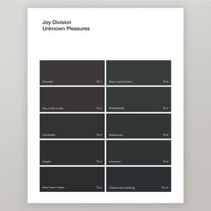 "Image of Joy Division ""Unknown Pleasures"" Paint Swatch Print"