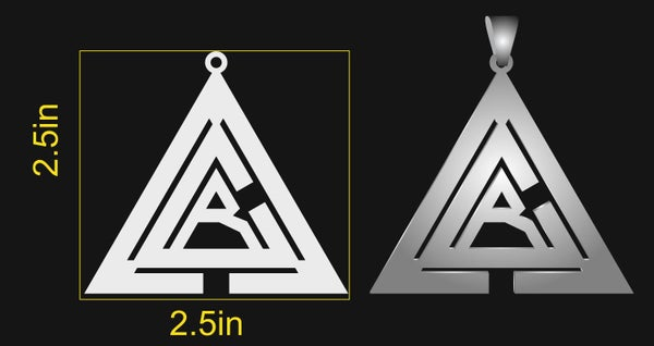 Image of Aleister Couture Records Pendant - Limited Quality