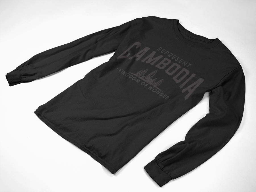 Image of Kingdom of Wonder Black on Black long sleeve Tee
