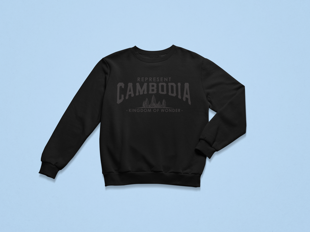 Image of Kingdom of Wonder Black on Black Crewneck Sweater