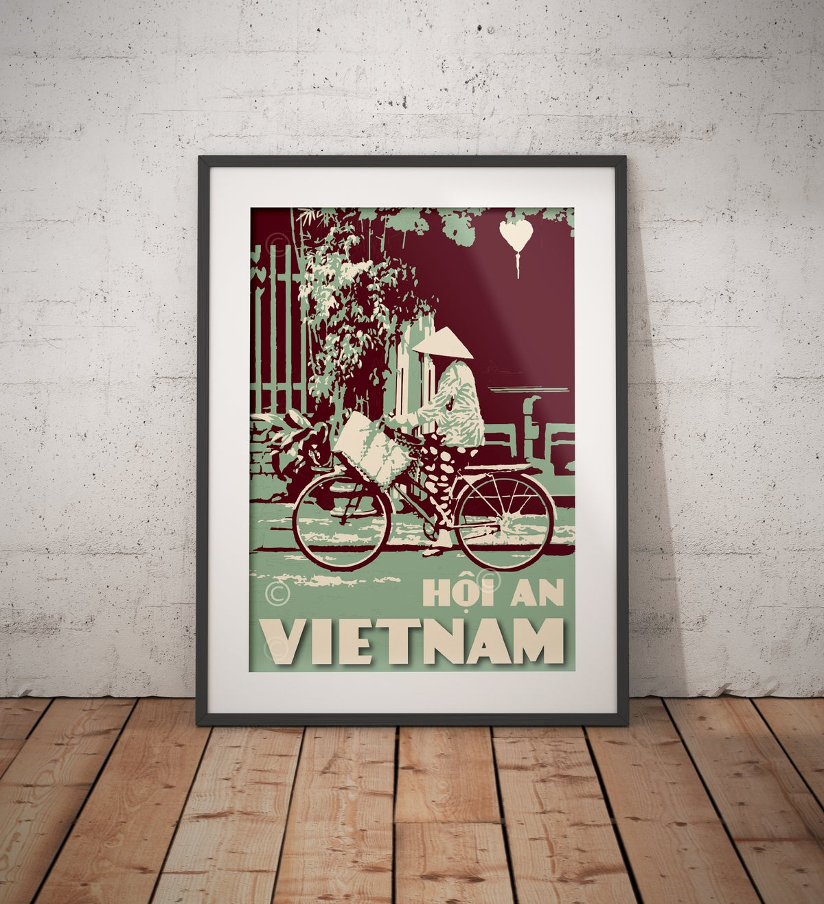 Image of Vintage poster Vietnam - Hoi An Jade - Fine Art Print
