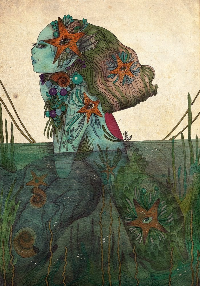 Image of A Sirens dream A4 print