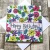 Flower Happy Birthday card