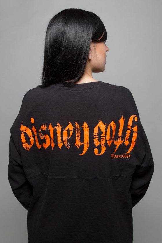 Image of Disney Goth Halloween Spirit Jersey