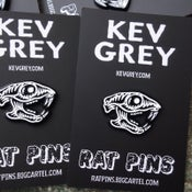 Image of Rat Pins X Kev Grey enamel badge