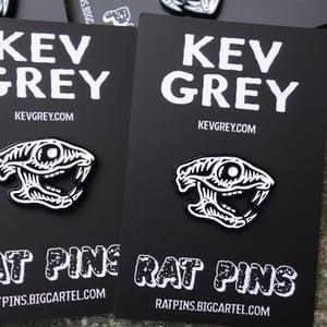 Image of Rat Pins X Kev Grey enamel badge