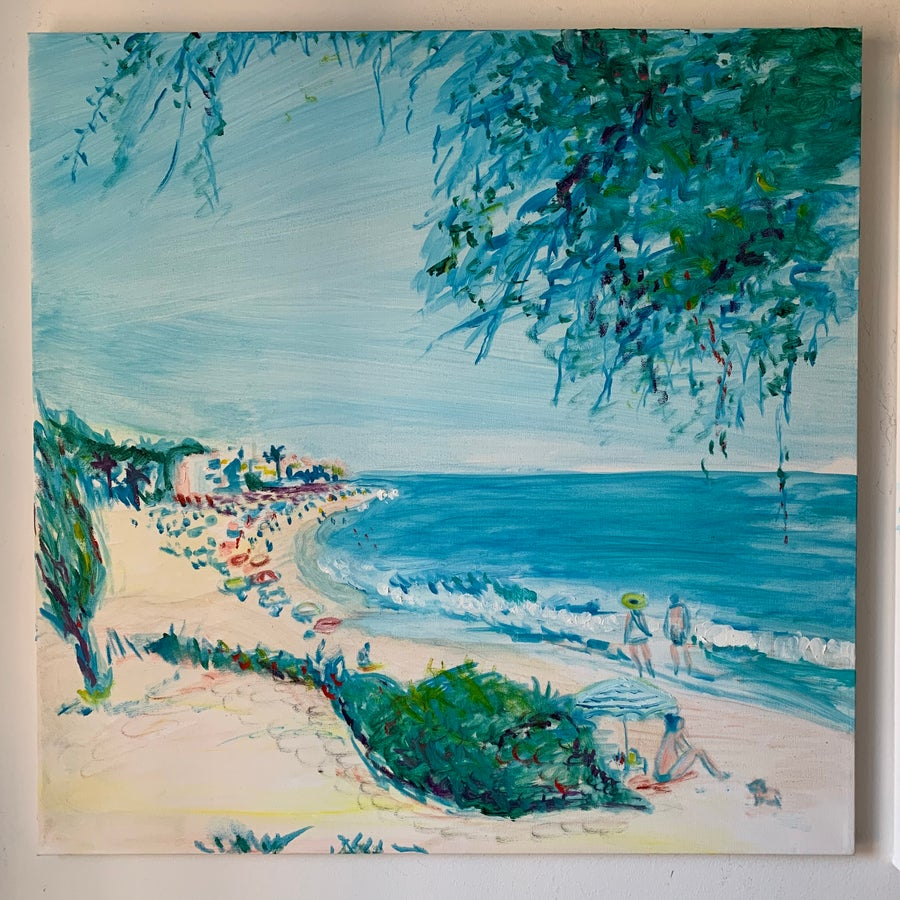 "Image of Playa de La Luna 30"" x 30"" Painting"