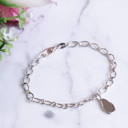 Image of Little Drop Sterling Silver Charm Bracelet