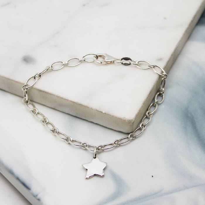 Image of Little Star Sterling Silver Charm Bracelet
