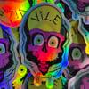 Holographic VILE Skull Sticker