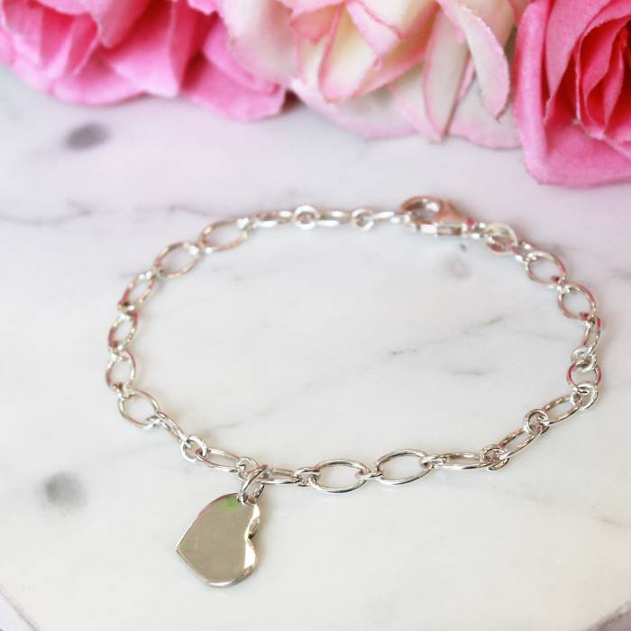 Image of Little Heart Sterling Silver Bracelet