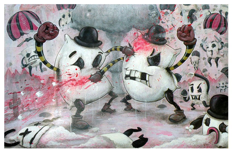 "Image of ""Pillow Fight!!!"" Poster Print ~ Limited Edition"