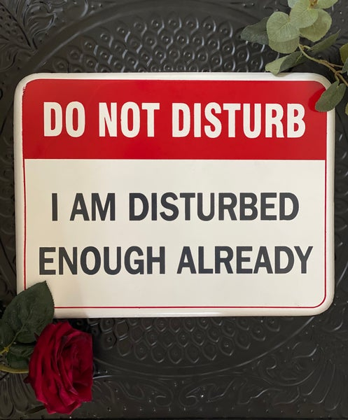 Image of Do Not Disturb Enamel Sign