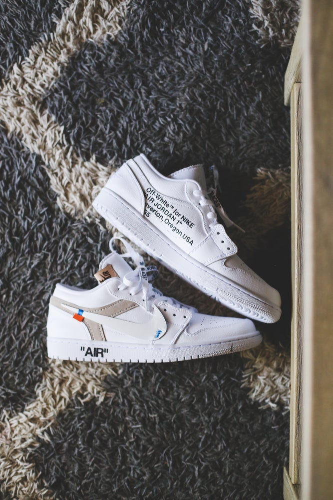 "Image of Jordan 1 low white ""off white"" inspired"