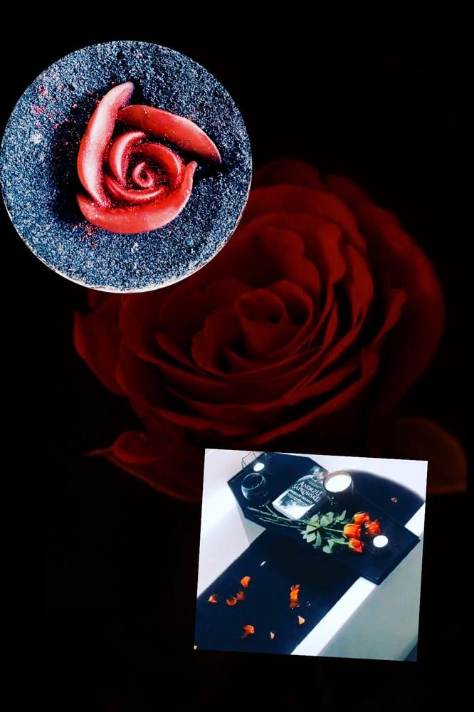 Image of Jewelled cranberry black rose soul